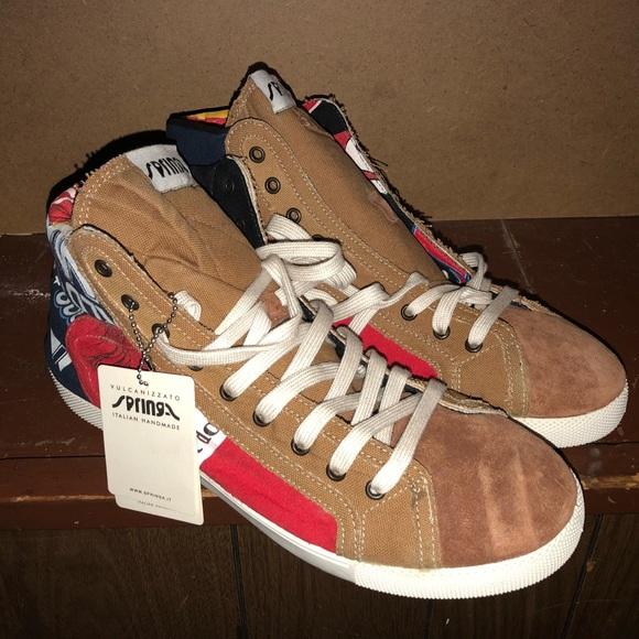 Springa TShirt Italian Made Custom Sneakers NWT